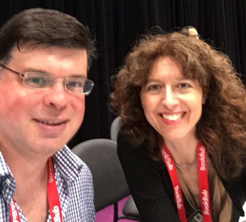 Brent LeVasseur and Laura Fabiani at Book Expo America 2015